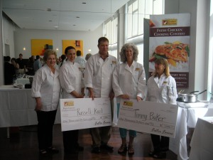 Contestants and winners of the Foster Farms Fresh Chicken Cooking Competition in Portland, Oregon